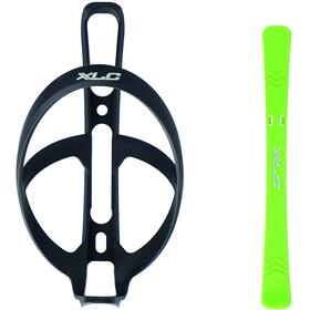 XLC BC-K10 Bottle Cage incl. Tyre Lever, negro/verde